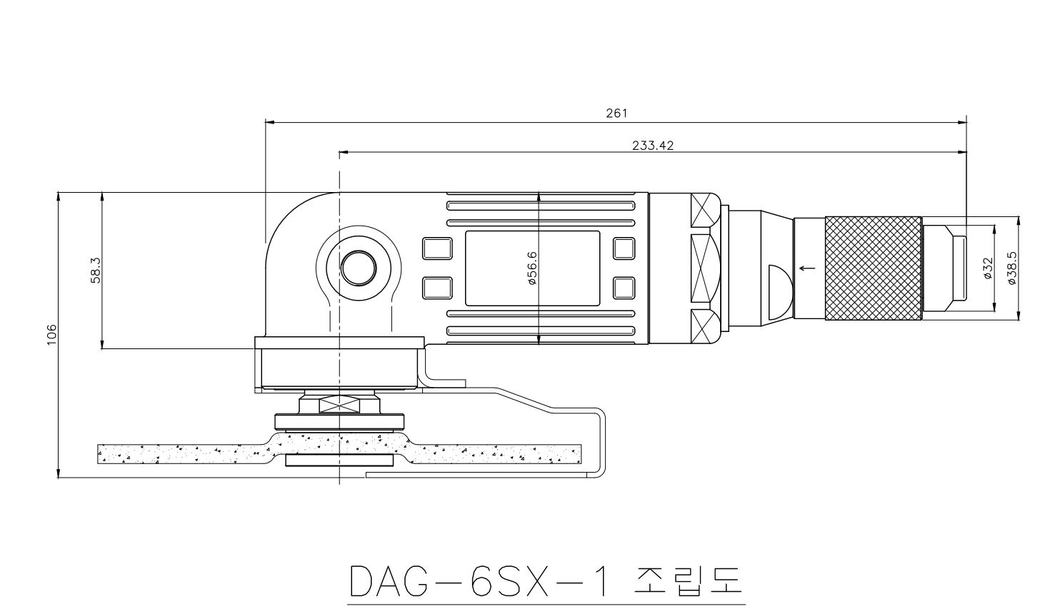 DAG-6SX-1_outer dimension